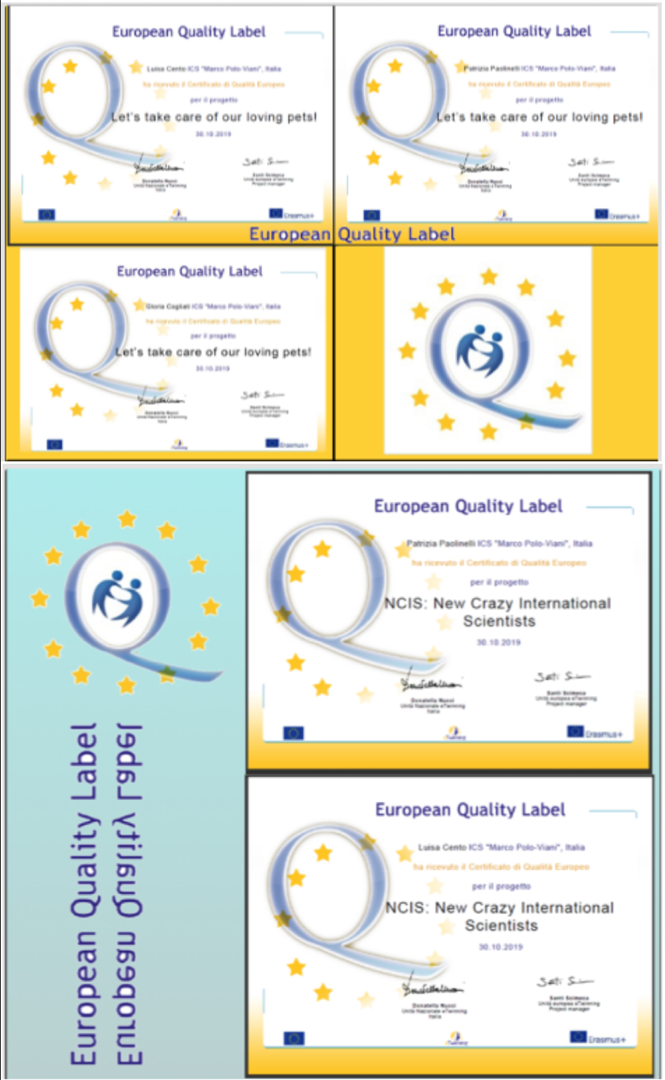 Quality Label Europeo per Let's take care our loving pets e per NCSI